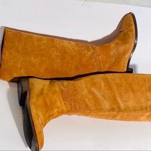 Vintage Italian Boho Tall Suede Joan & David Boots